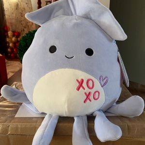"Squishmallow Stacy the squid 8"" valentine"